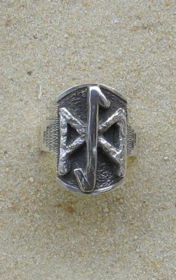 bague monogramme runique