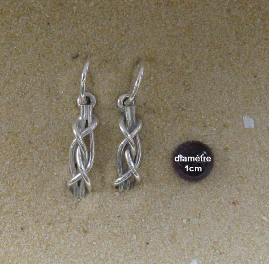 boucles d'oreilles noeud de vice et versa
